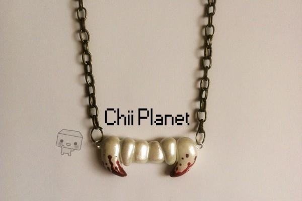 collar dientes de vampiro