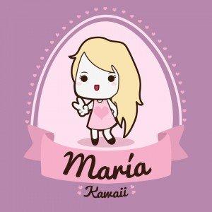 logo maria kawaii